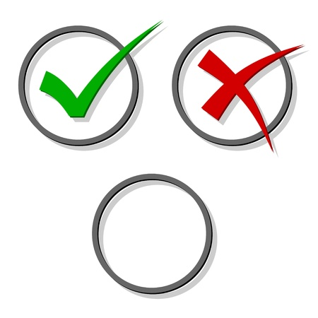 to tick: las marcas de verificación de vectores