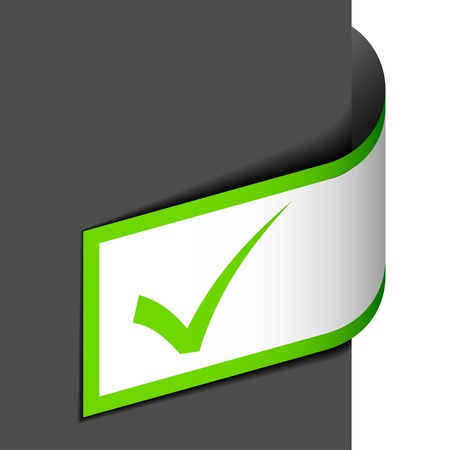 proceed: vector positive checkmark Illustration
