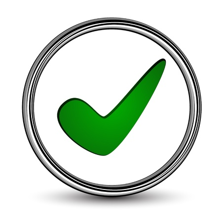 right choice: vector positive checkmark Illustration