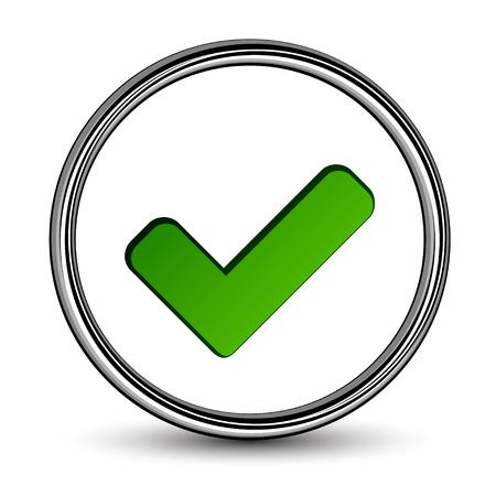 tick symbol: vector positive checkmark Illustration
