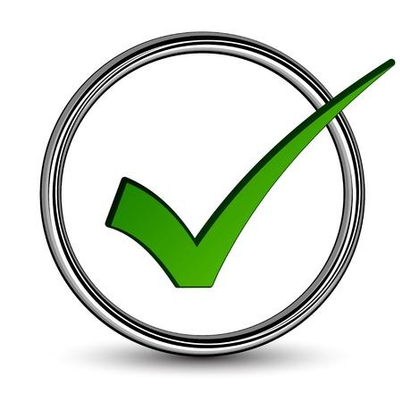 check icon: vector positivo marca
