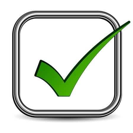check box: vector positive checkmark Illustration
