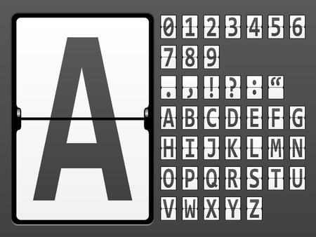 scoreboard: vector alphabet of mechanical panel