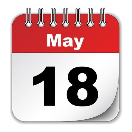 månader: vektor kalender Illustration