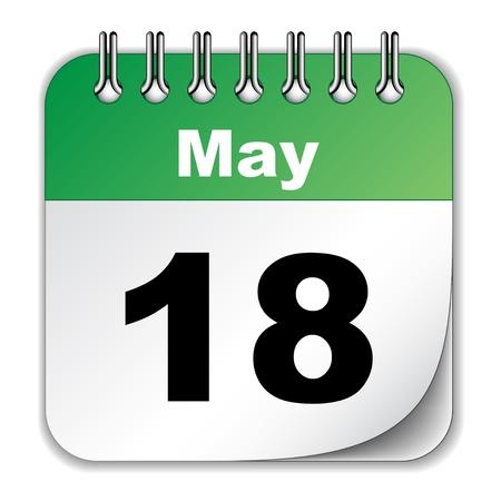dattel: Vektor-Kalender