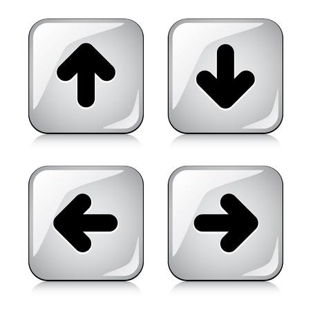 freccia destra: vettore tasti freccia lucido