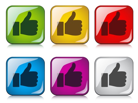 vector thumbs up buttons Stock Vector - 11520285
