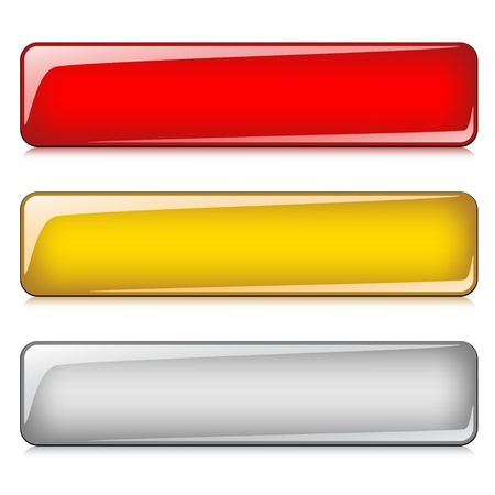 rectangle button: vector glossy buttons Illustration