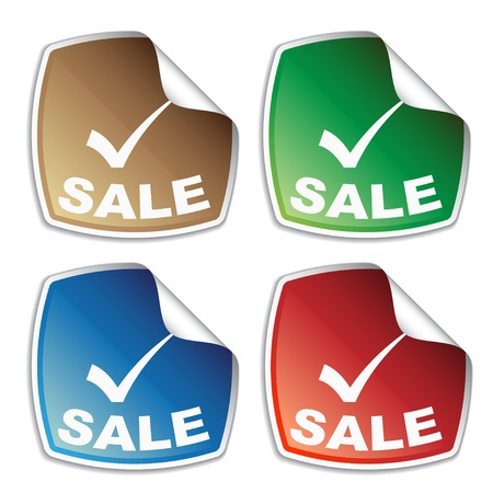 vector sale colored stickers Vector