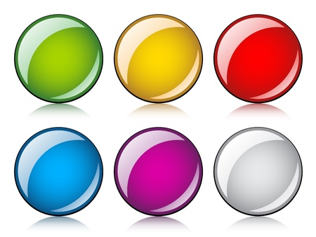 vector glossy buttons Stock Vector - 11520202