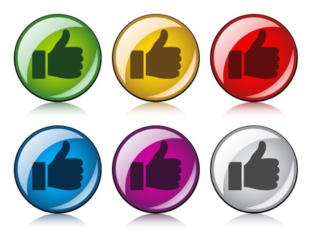 vector thumbs up buttons Vector