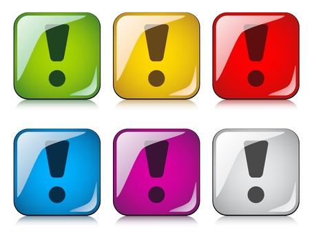 exclamation mark: vectoriales marca de exclamación botones