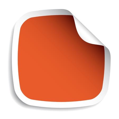 curled edges: vettoriale adesivo bianco Vettoriali