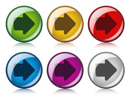 vector arrow buttons Stock Vector - 11520242