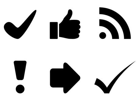 check mark: vector black symbols