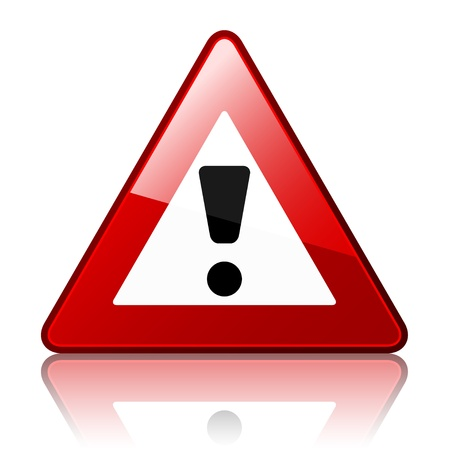 precautions: vector warning sign Illustration