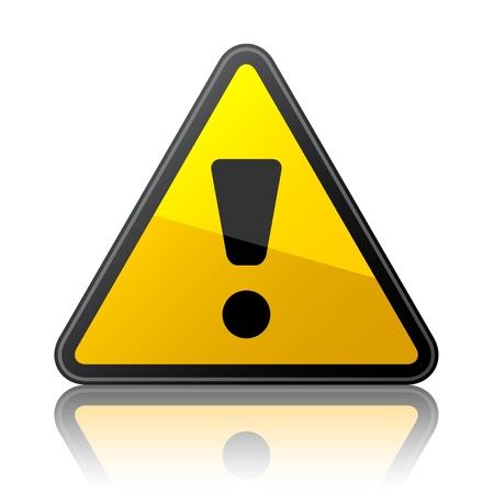 signos de precaucion: vector de señal de advertencia