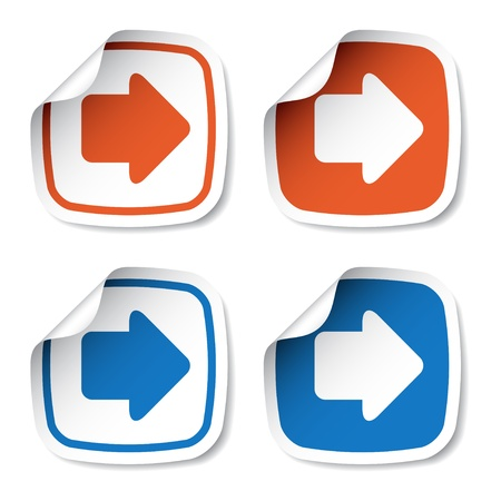 curve arrow: vector arrow stickers Illustration