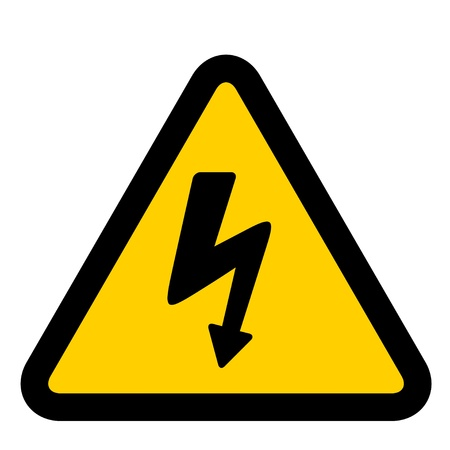 electricity danger of death: vector high voltage sign