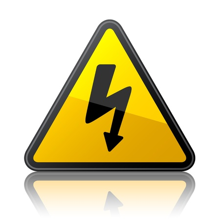 spannung: Vektor-Hochspannungs-Zeichen