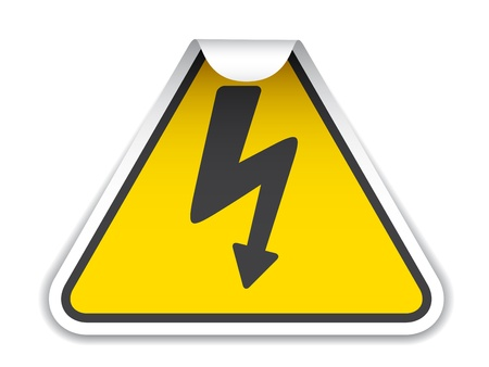 vector high voltage sticker Stock Vector - 11520300