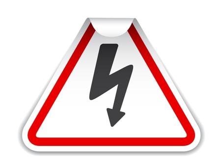 descarga electrica: vector de adhesivo de alta tensión