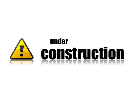 web page under construction: vector under construction template