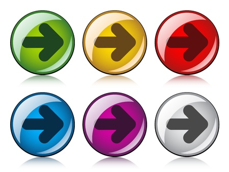vector arrow buttons Stock Vector - 11520247