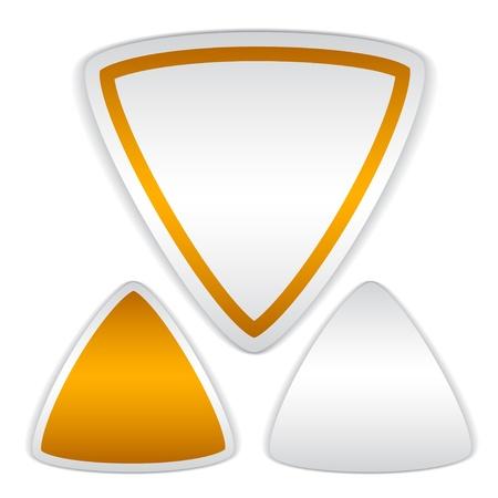 tri�ngulo: vector pegatinas tri�ngulo blanco Vectores