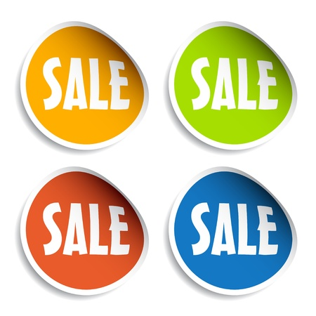 vector sale sign stickers Stock Vector - 11525321