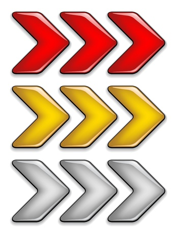 move forward: vector arrows Illustration