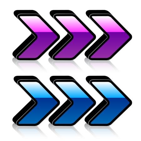 move arrow icon: vector 3d shiny arrows