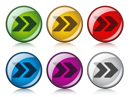 vector arrow buttons Stock Vector - 11520258
