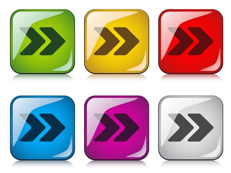 vector arrow buttons Stock Vector - 11520262