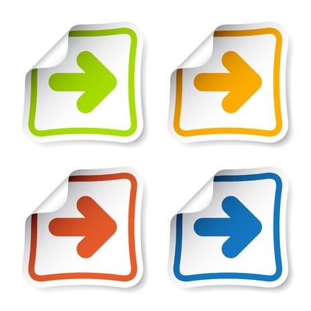 target arrow: vector arrow stickers Illustration