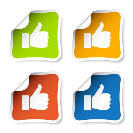 thumbs up icon: vector thumb up stickers Illustration