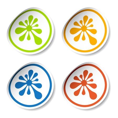 vector ink blot stickers Stock Vector - 11520770