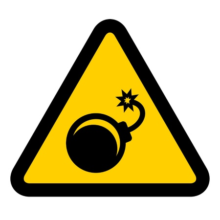 vector bomb warning sign Illustration