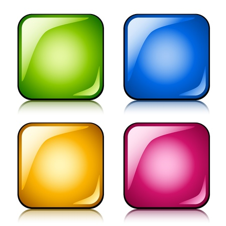 vector glossy buttons Stock Vector - 11520380