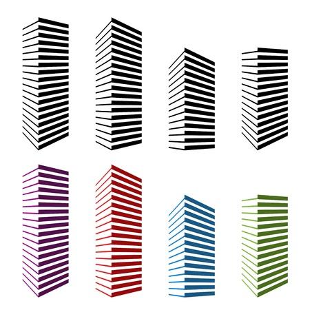 vector skyscraper symbols Stock Vector - 11519913