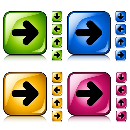 vector arrow buttons Stock Vector - 11520582