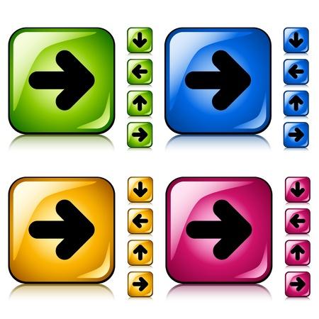 vector arrow buttons Stock Vector - 11520582