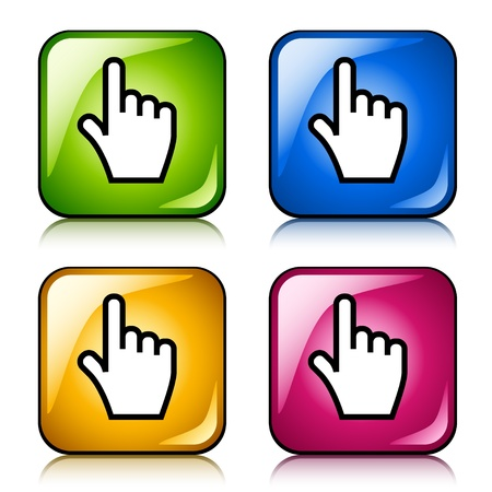vector smooth cursor hand buttons Vector