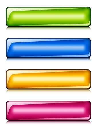 vector glossy buttons Stock Vector - 11525486
