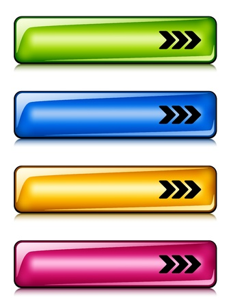 vector glossy buttons Stock Vector - 11525487