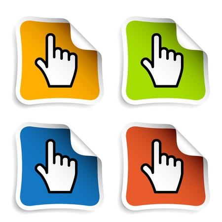 vector smooth cursor hand stickers Vector