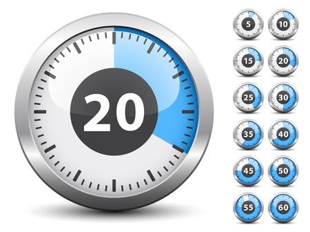 cronometro: Temporizador Vector - Tiempo de cambio fácil cada minuto