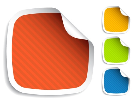vector striped stickers Vector