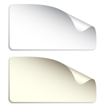 yellowed: vector blank stickers