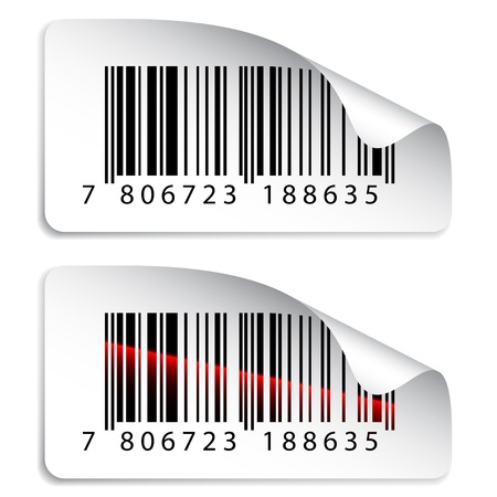 bars code: vector barcode stickers